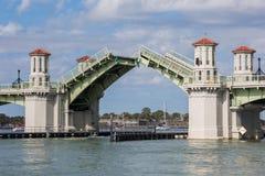 可移动的开启桥,圣奥斯丁 库存图片