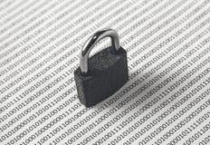 可以用于代表的一个黑白概念图象网络安全或保护软件编码 这个图象有se 库存照片
