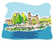 台伯河海岛,罗马,意大利 库存照片