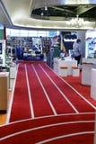 台北体育衣物商店地毯  免版税库存图片