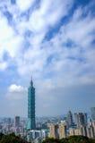 台北地平线天视图  免版税图库摄影