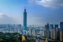 台北地平线天视图  免版税库存照片