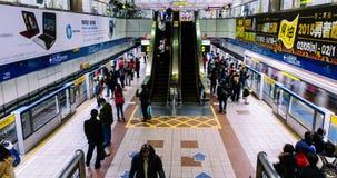 台北地铁Dongmen Staton 4K 股票录像