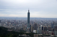 台北市和101 免版税库存图片