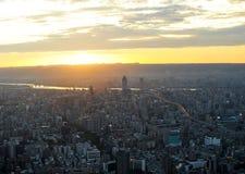 台北市在晚上 免版税库存图片