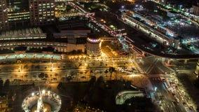 台北市城市街道交通黑暗建筑的时空 股票录像