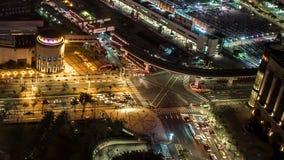 台北市城市街道交通黑暗建筑的时空 股票视频