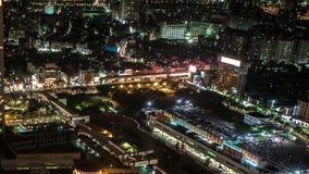 台北市城市街道交通黑暗建筑的时空 影视素材