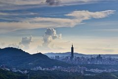 台北市天空视图 免版税图库摄影