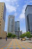台北市政府周围的大厦  免版税图库摄影