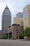 台北市政府和周围的大厦 库存图片