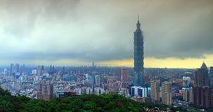 台北市美丽的景色 股票视频
