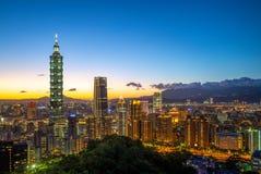 台北市风景夜 库存图片