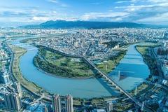 台北市鸟瞰图 免版税图库摄影