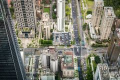 台北市鸟瞰图  库存图片
