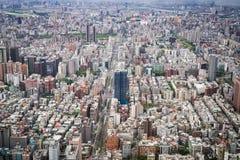 台北市鸟瞰图  库存照片