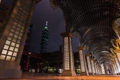 台北,台湾台北101修造的地标  库存图片