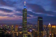 台北,台湾地平线 库存图片