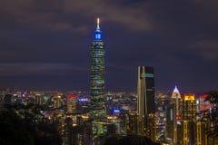 台北,台湾地平线 图库摄影