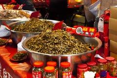 台北,台湾,迪化街,新年街道,国际旅游胜地,中国` s每年购买新年` s地方 库存照片
