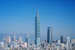 台北,台湾- 2018年1月16日:台北是台湾一个首都 免版税库存照片