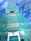 台北,台湾- 2015年11月22日:台北101塔,看法从 免版税库存图片