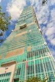 台北,台湾- 2015年11月22日:台北101塔,看法从 库存照片