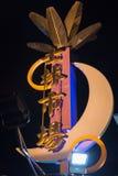 台北,台湾- 5月01 :士林市场,夜义卖市场吸引m 库存图片