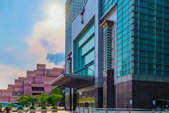 台北101修造的入口 免版税图库摄影