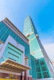 台北101修造的建筑学 免版税图库摄影