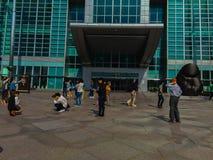 台北101塔,从塔的前面看法 免版税库存图片