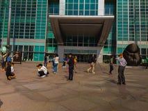 台北101塔,从塔的前面看法 库存图片