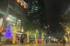 台北101夜都市风景台北台湾 库存图片