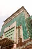 台北101高楼上面与白色天空的在台湾 免版税库存图片