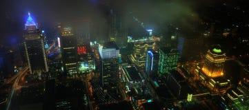 台北CBD夜视图 免版税图库摄影