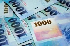 1000台币票据 免版税库存图片