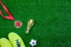 台式视图空中图象足球或橄榄球比赛季节背景 库存图片