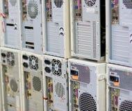 台式计算机后面 免版税库存照片