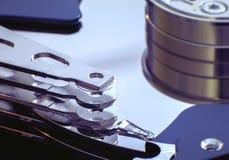 台式计算机硬盘内部关闭  免版税库存照片