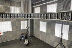64台扩音器圆列阵 库存照片