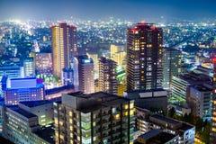 仙台日本都市风景 免版税库存图片
