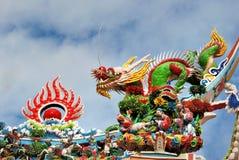 台湾寺庙装饰 免版税库存照片
