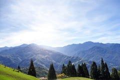 台湾山绿色珍宝 库存图片