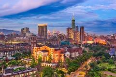 台湾市地平线 免版税库存图片