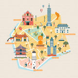 台湾旅行概念 库存例证