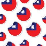 台湾旗子贴纸无缝的样式背景 企业concep 库存图片