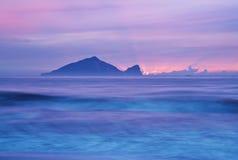 台湾日出风景美丽的海岸  免版税库存照片