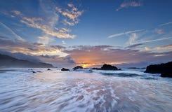 台湾海岸日出 库存图片