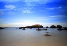 台湾海峡礁石 库存照片
