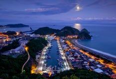台湾海边夜 免版税库存照片